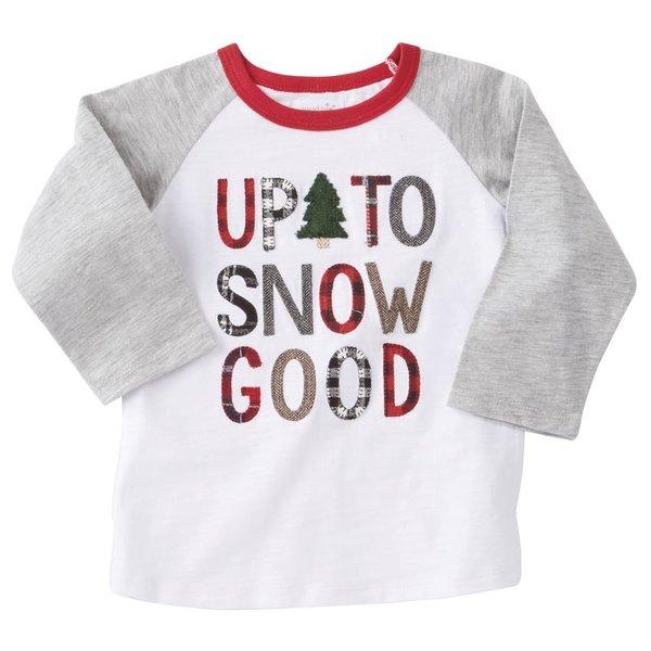 Up to Snow Good Raglan T-Shirt (Mud-Pie)