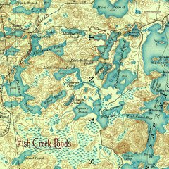 Fish Creek Ponds New York 1905 Topographic Map Shirt