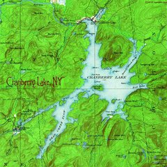 Cranberry Lake 1919 Topographic Map Shirt