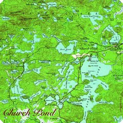 Church Pond near Paul Smiths, NY Topographic Map Shirt