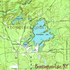 Brantingham Lake 1966 Topographic Map Shirt