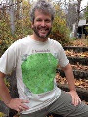 46 Adirondack High Peaks Topographic Map Shirt