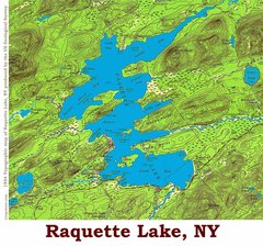 Raquette Lake New York 1954 Topographic Map Shirts