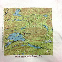 Blue Mountain Lake New York 1954 Topographic Map Shirt