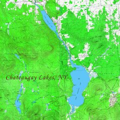 Chateaugay Lakes, New York Topographic Map Shirt