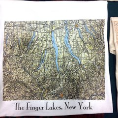 Finger Lakes New York Topographic Map Shirt