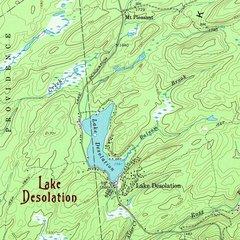 Lake Desolation New York 1968 Topographic Map Shirt