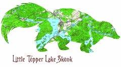 Animal Map Baby Onesie Topographic Map Shirt