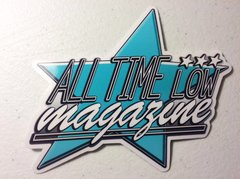 Blue printed ATL star logo sticker