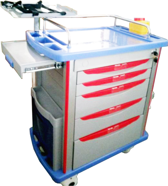 emergency cart Emergency carts with variable interior fittings and clearly arranged and space-saving attachment of all the components you need in an emergency.