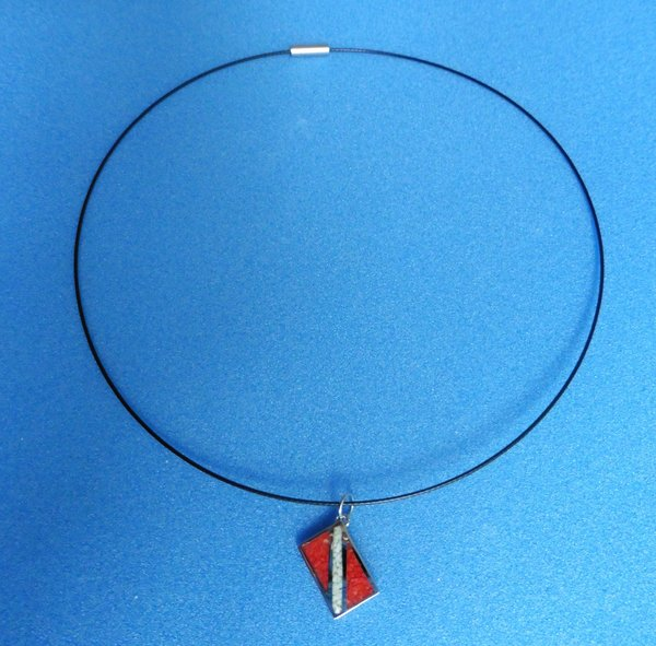 """Pendant with Dive Flag (includes 18"""" neck wire)"""