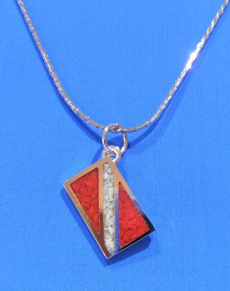 Pendant with Dive Flag (includes chain)