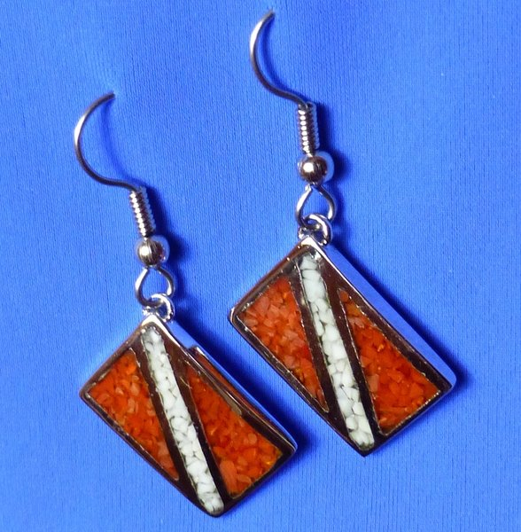 Earrings with Dive Flag
