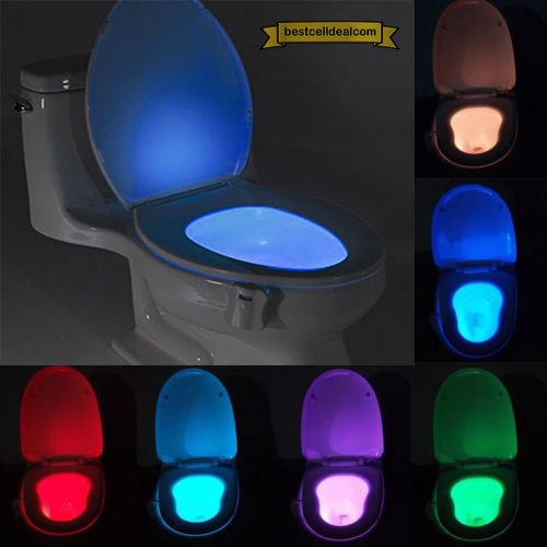 Glow bowl toilet light bowl led sensing motion activated night glow bowl toilet light bowl led sensing motion activated night light for toilet 8 different colors mozeypictures Image collections