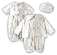 Sarah Louise Silk Christening Romper, Hat and Jacket