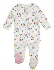 Piccalilly Girls Nursery Floral Duck Sleepsuit