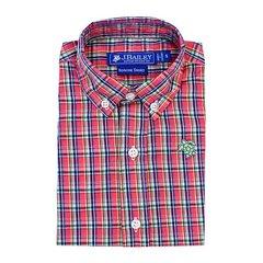 J Bailey Plaid Roscoe Banbury Plaid Button Down Shirt