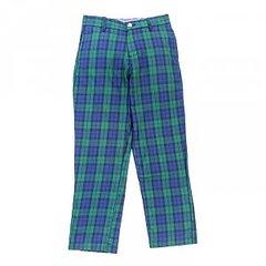 J Bailey Pants Navy and Green Plaid Champ