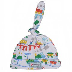 Piccalilly Baby Rainbow Train Knot Hat
