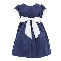 Bailey Boys Navy Cord Girls Empire Dress