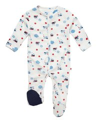 Piccalilly Baby Steam Train Sleepsuit