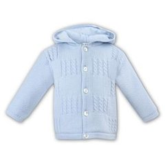 Sarah Louise Blue Knitted Jacket