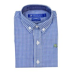 J Bailey Plaid Roscoe Medium Blue Button Down Shirt