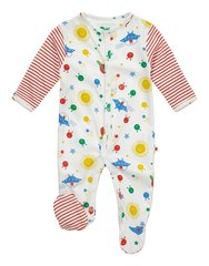 Piccalilly Baby Retro Space Footed Sleepsuit