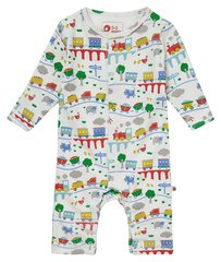 Piccalilly Baby Rainbow Train Romper