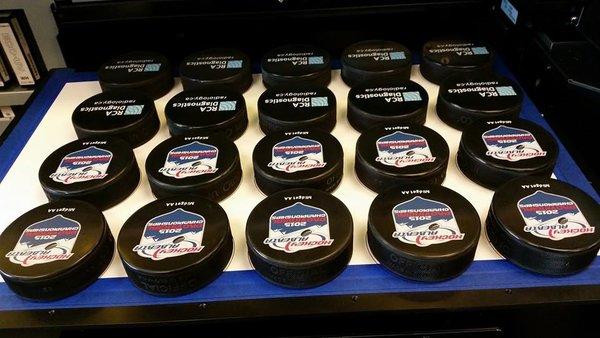 Decorative Printed Hockey Pucks