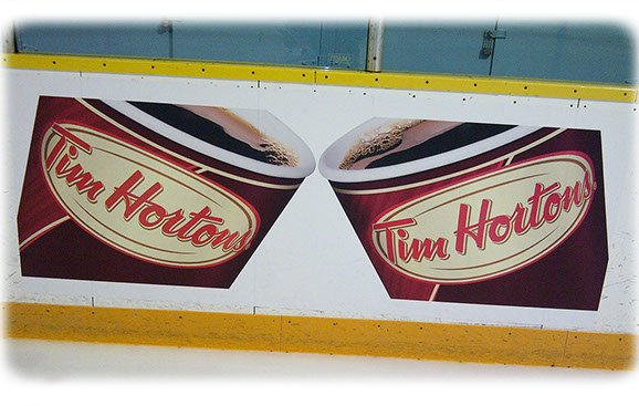 Hockey Arena Board Ads