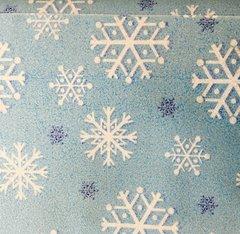 Michael Miller Light Blue Snowfall Sparkle Fabric CM2050-BLUE-D