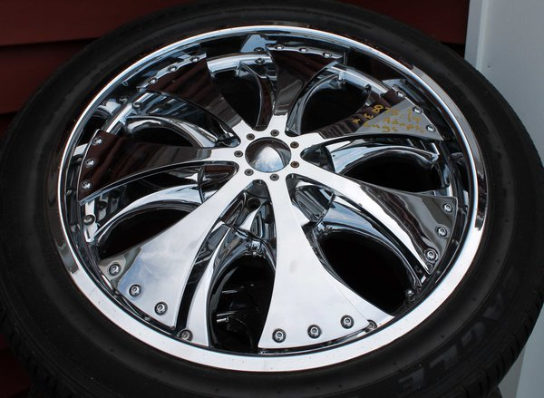"20"" Chrome Spinner Wheels-Multi Fit 5-hole"