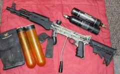 Tippmann Cammo Custom 98 Paintball Marker and Accessories