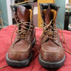 Insulated Texas Steer Leather Boots--Size 8 1/2