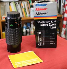 Albinar 80-200mm f 3.9 Macro Zoom Lens for Minolta MD