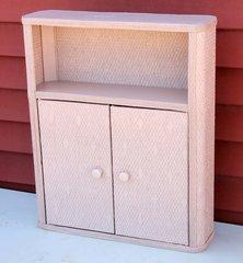 Vintage Bathroom Wicker Style 2 door Cabinet