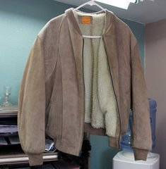 Suede Tan Leather Jacket
