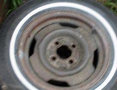 """4 Lug/4 1/4"""" Cntr Hole Rim--P185/75R14 Firestone w/ 40% Tread x2"""