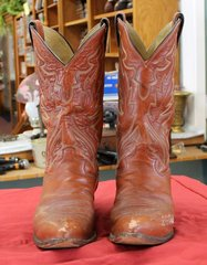 Justin Brown Leather Cowboy Boots-size 10 1/2E