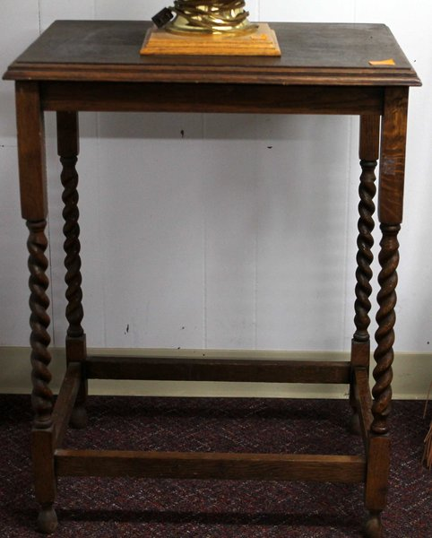 Antique Side Table w/ Spindle Legs