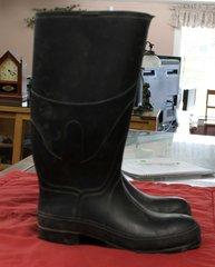 Black Rubber Boots--size 13D