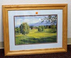 Wood Framed Golf Print by Mark Ogle