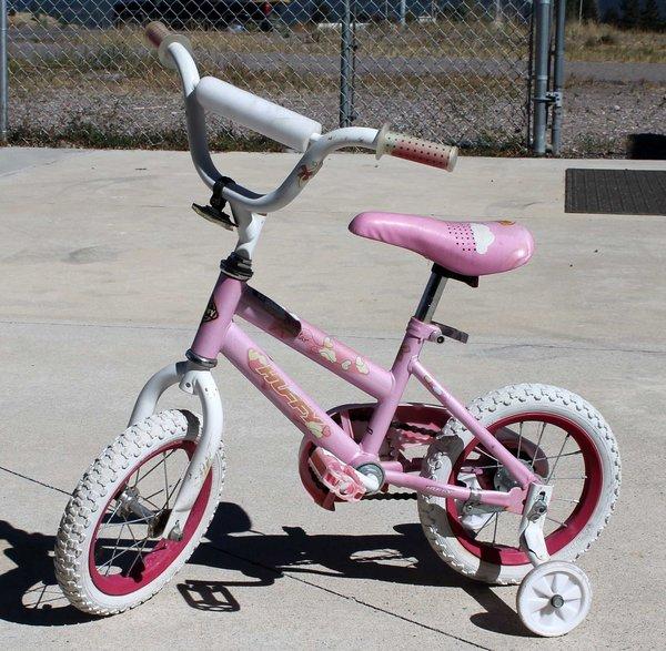 "12 1/2"" Huffy Sea Star Pink Girl's Bicycle/Bike w/ Training Wheels"