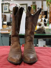 Justin Brown Leather Cowboy Boots--8 1/2D