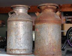 Antique Milk Cans with Caps