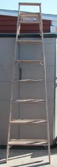 8 Foot Wooden Step Ladder with 7 Steps