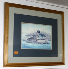 Vintage Ducks/Fowl Wood Framed Print by E. Rambow