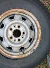"""5 Lug/4 1/4""""Cntr Hole Ford--P215/70R14 Firestone M+S--40% tread"""