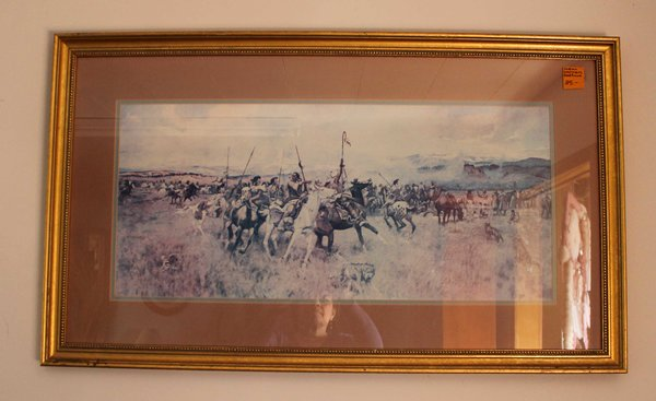 Indian Warriors w/ Gold Frame